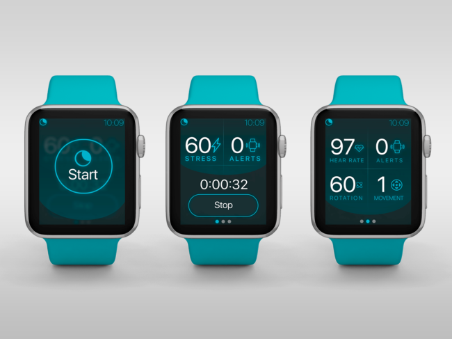 Apple Watches with various Nightware screens