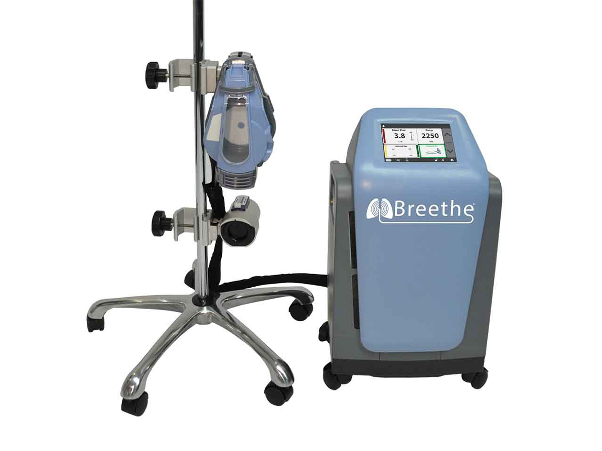 Photo of the the Breethe system