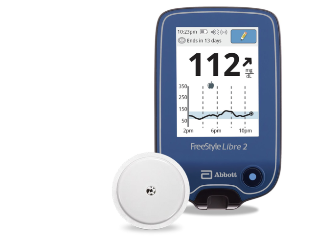 Freestyle Libre 2 integrated continuous glucose monitor
