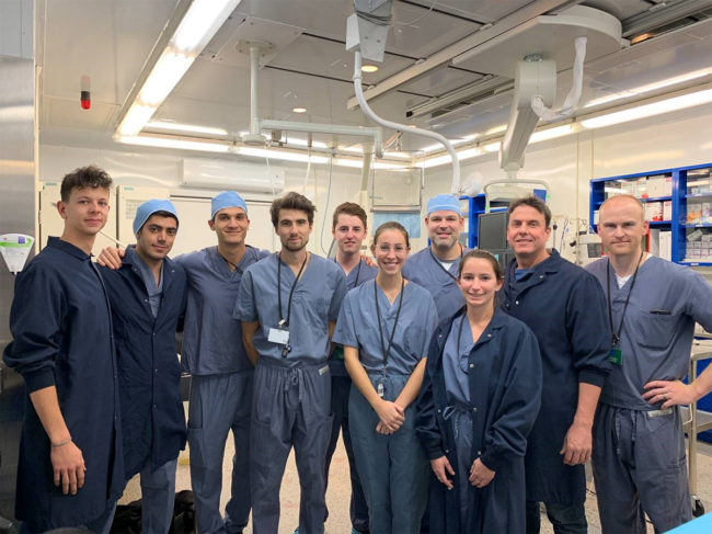 Group photo in lab