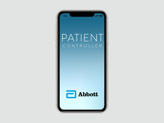Patient Controller app on smartphone