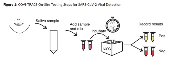 Covi-Trace on-site testing steps for SARS-CoV-2 detection
