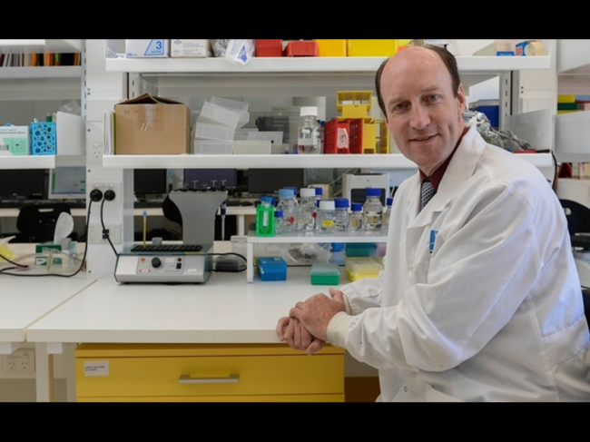 Richard Lipscombe in the lab