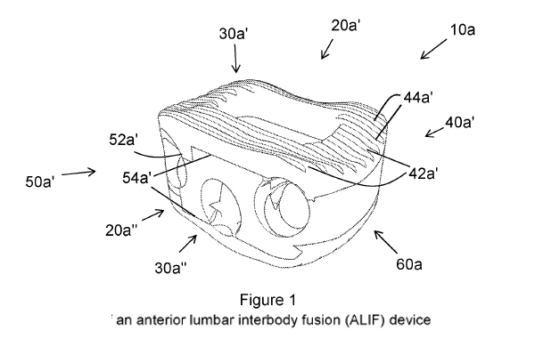 Patent schematic of an anterior lumbar interbody fusion device
