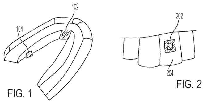 Patent schematic for: Detecting substances using a wearable oral device