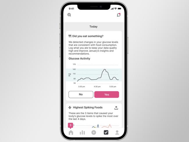 Mobile app on smart phone