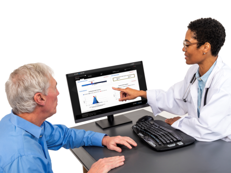Doctor reviews Corvista findings with patient