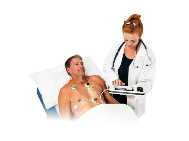 Doctor oversees patient with Corvista system