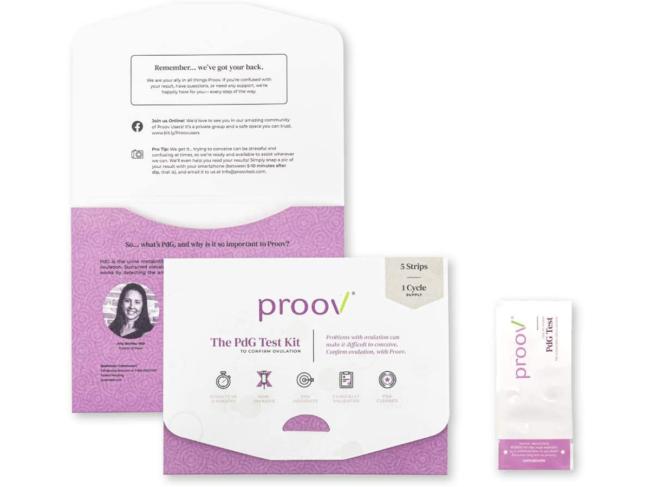Proov PdG test kit components