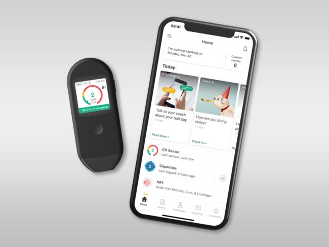Pivot breath sensor and app on phone