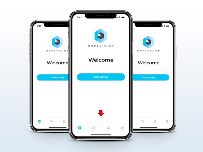 Smartphones with Dopavision app