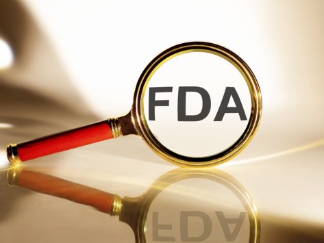 Magnifying glass, FDA concept image