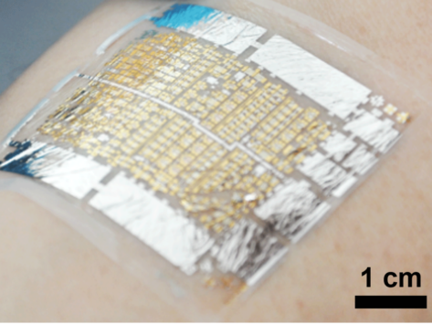 E-health patch on skin