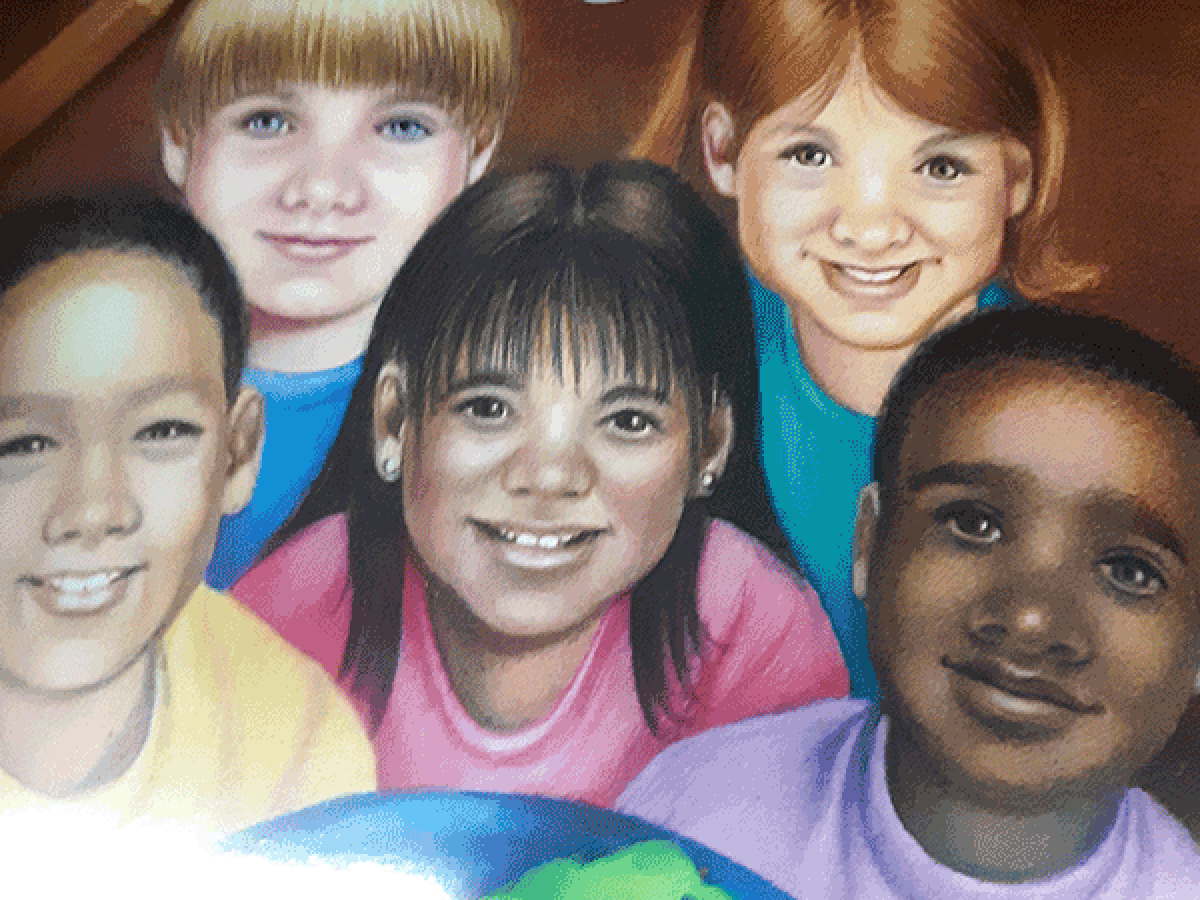Illustration of children with different skin tones