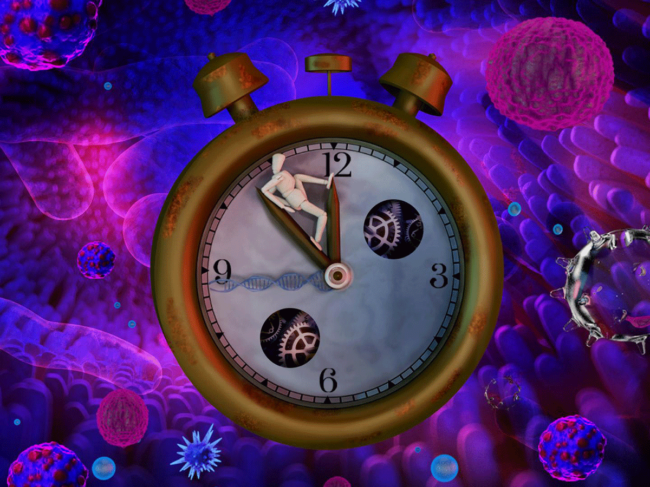 Pan-Cancer illustration showing molecular clock in cells