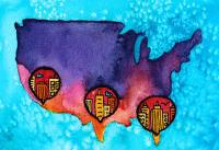 Antibiotic resistance map of U.S.