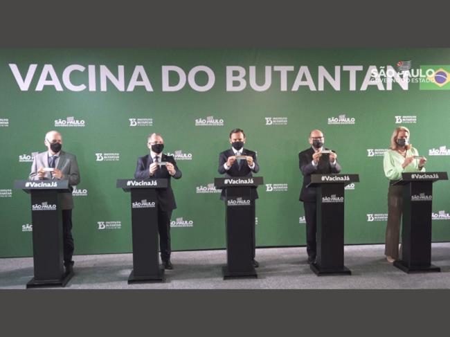 Coronavac press conference in Brazil