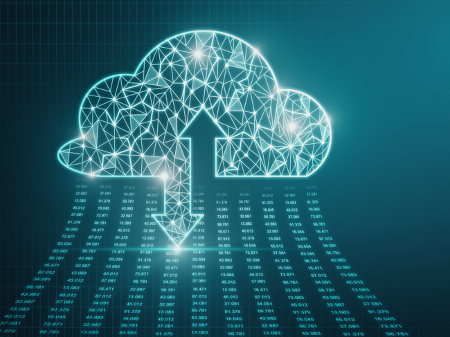 Cloud data sharing illustration