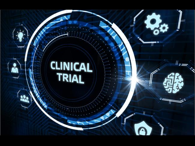 Clinical trial virtual display