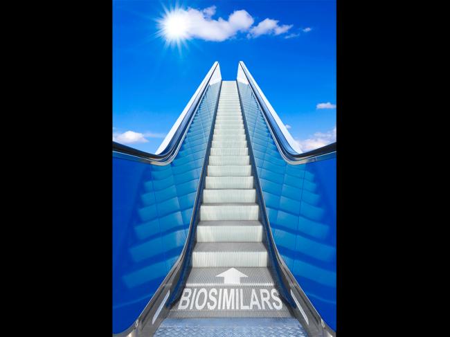 Biosimilar escalator illustration