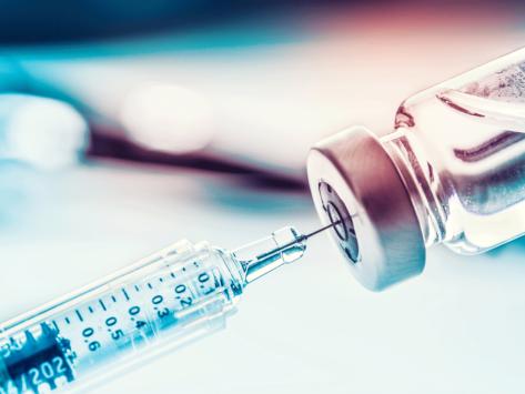 Drug vial and syringe
