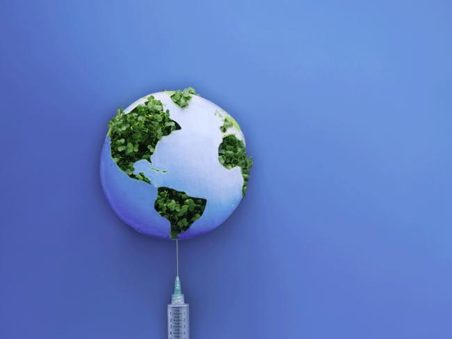 Global vaccine illustration