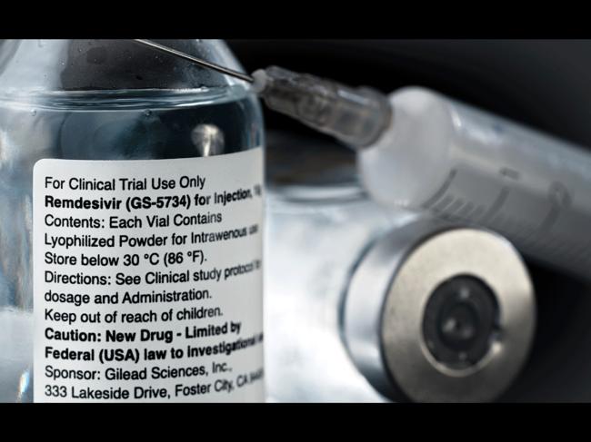 Remdesivir vial and syringe