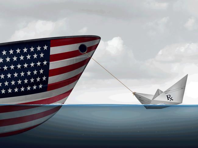 U.S. drug import illustration