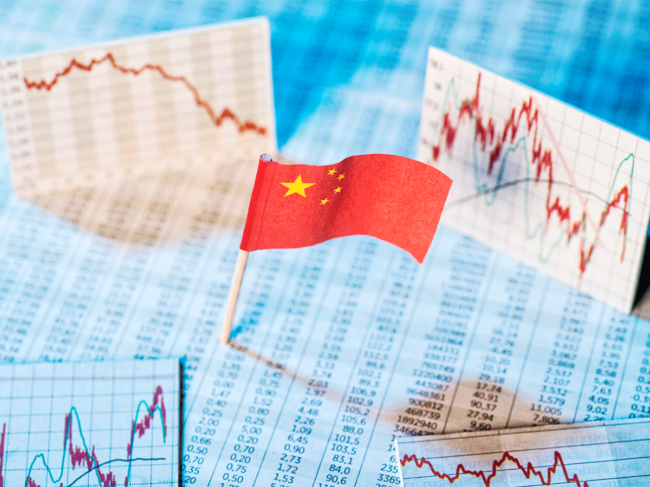 Chinese flag, charts