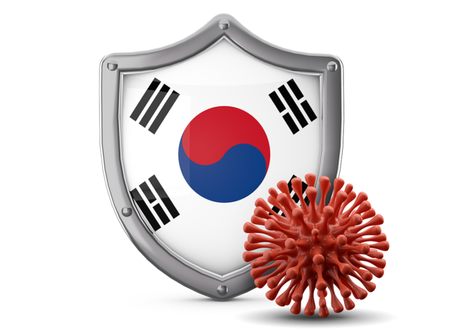 South Korean shield, coronavirus
