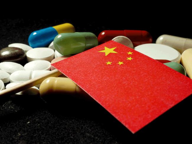 Chinese flag, pills