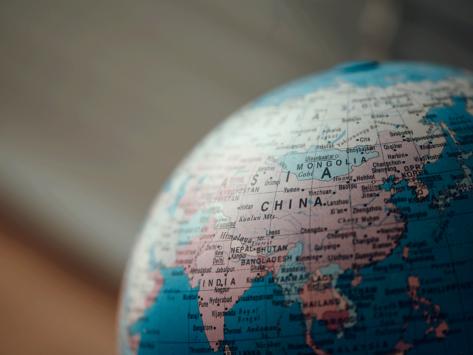 World globe china