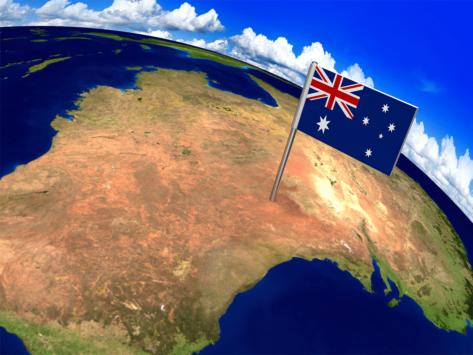 Australia globe flag