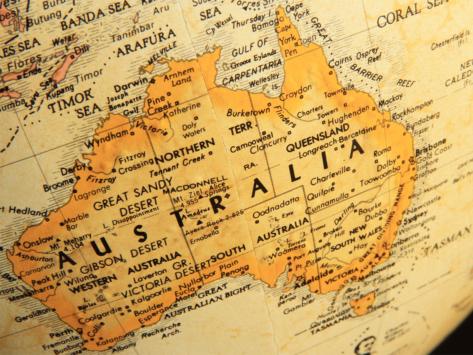 Australia-globe-map