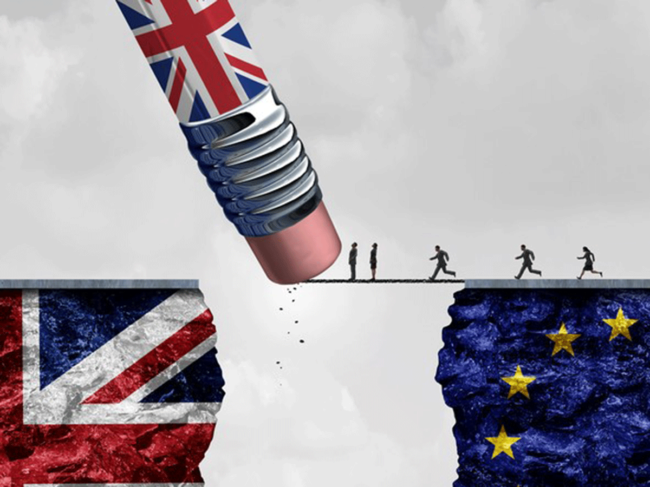Brexit pencil illustration