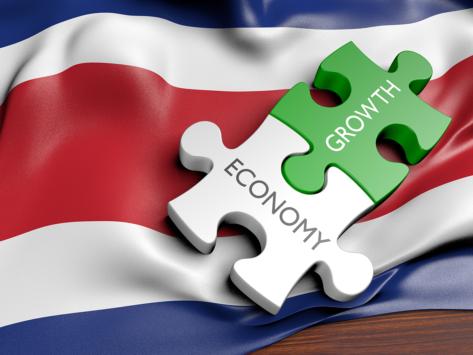 Costa rica economy flag