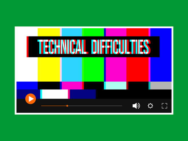 Technical difficulties illustration