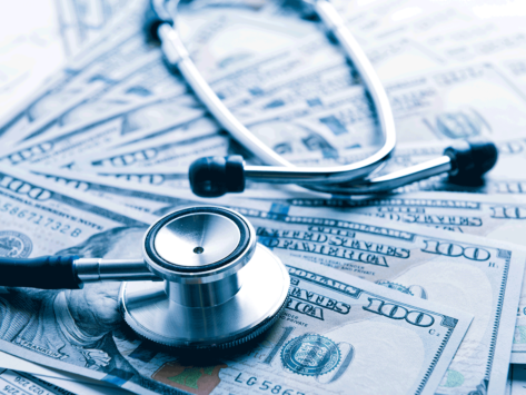 Health-care-costs-cash-stethoscope