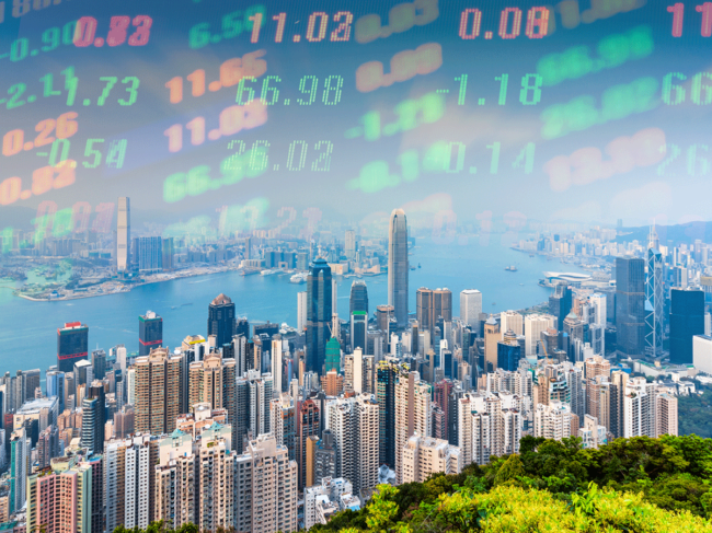 Hong Kong stock market illustration