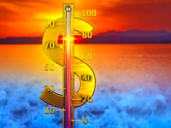 Dollar sign thermometer