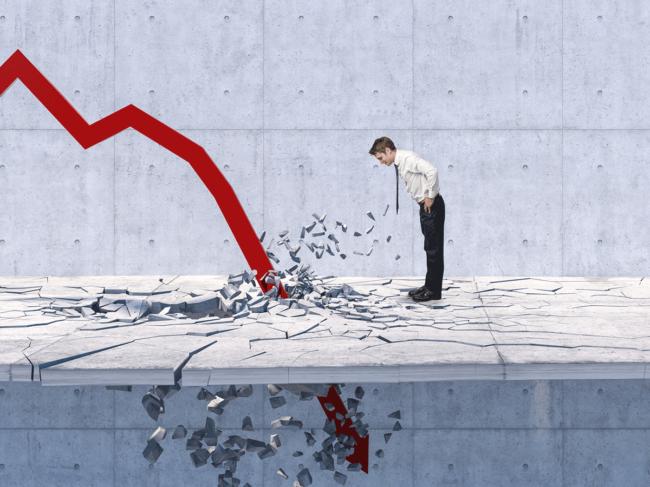 Stock market crash illustration
