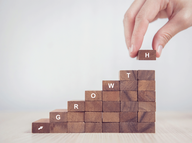 Building blocks spelling Growth