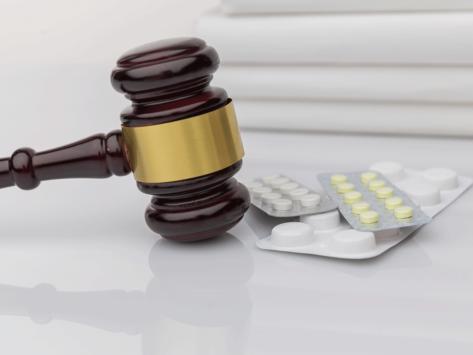 Gavel and medication
