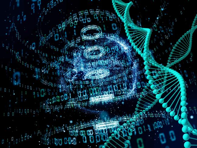 DNA data illustration