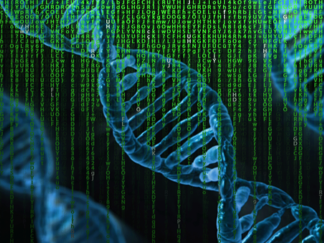 DNA and data illustration