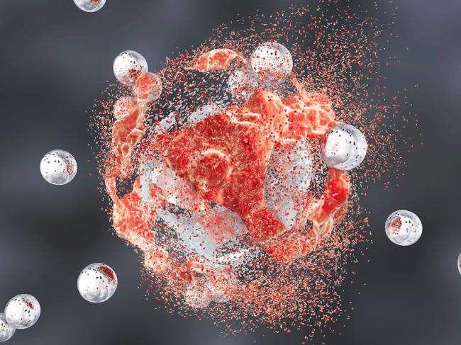 Cancer cell destruction by nanoparticles