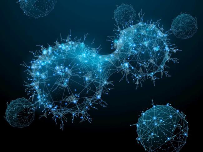 Digital cancer cells illustration