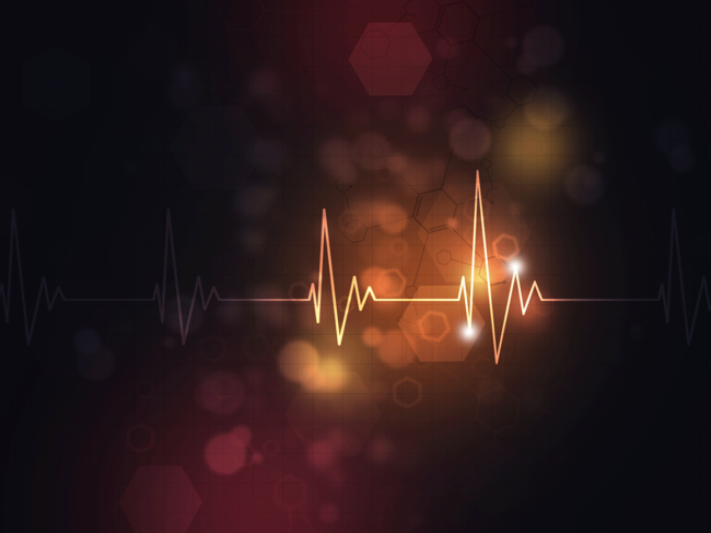 Heart rate illustration
