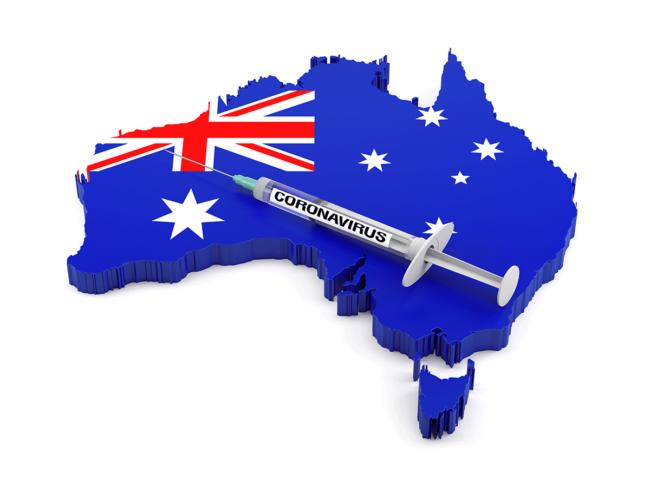 Australia and coronavirus syringe