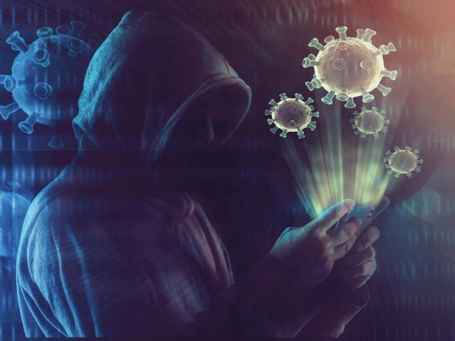 COVID-19 cyberattack illustration